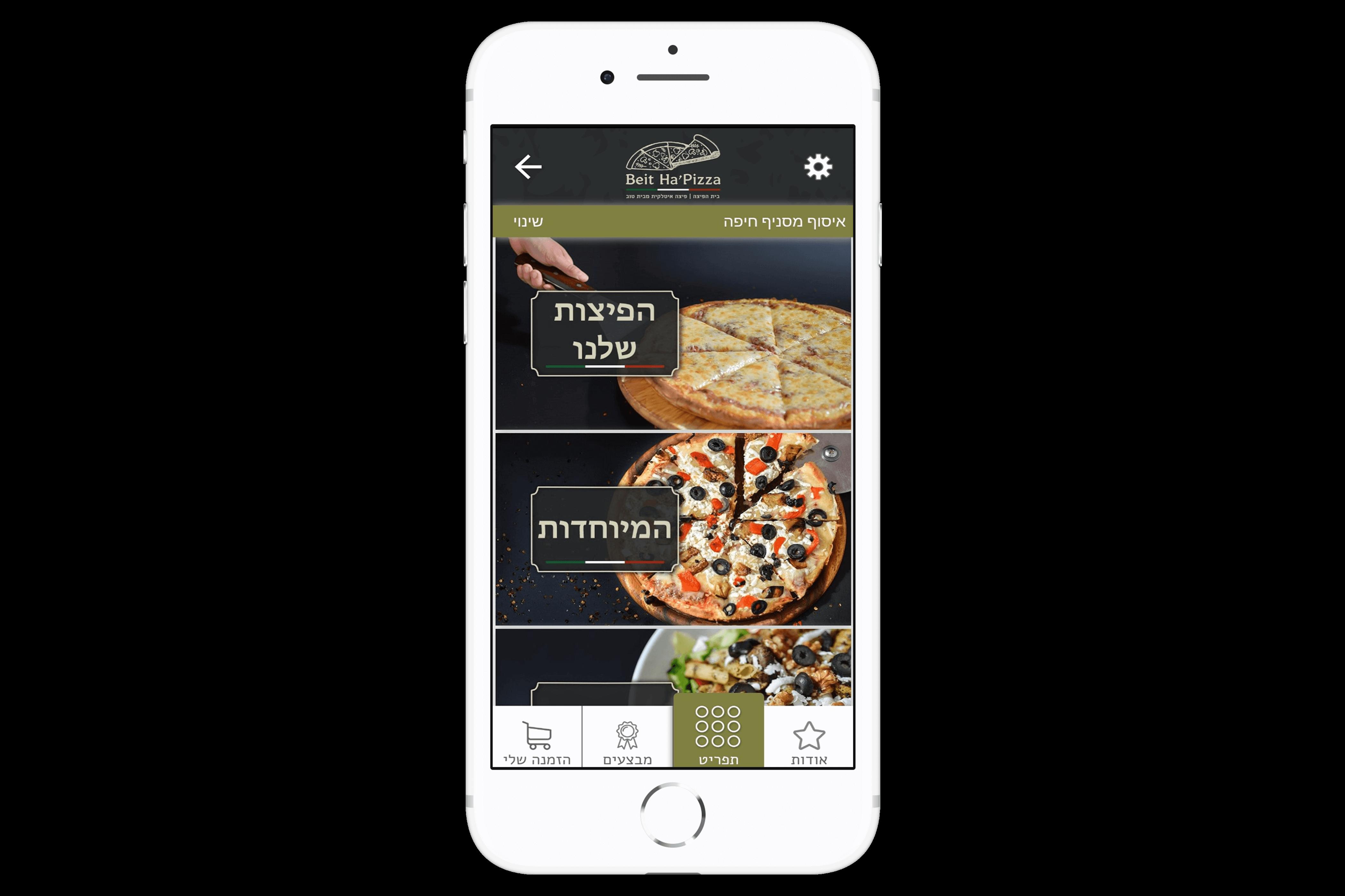 אפליקציית הזמנות של בית הפיצה מבין הלקוחות שלנו