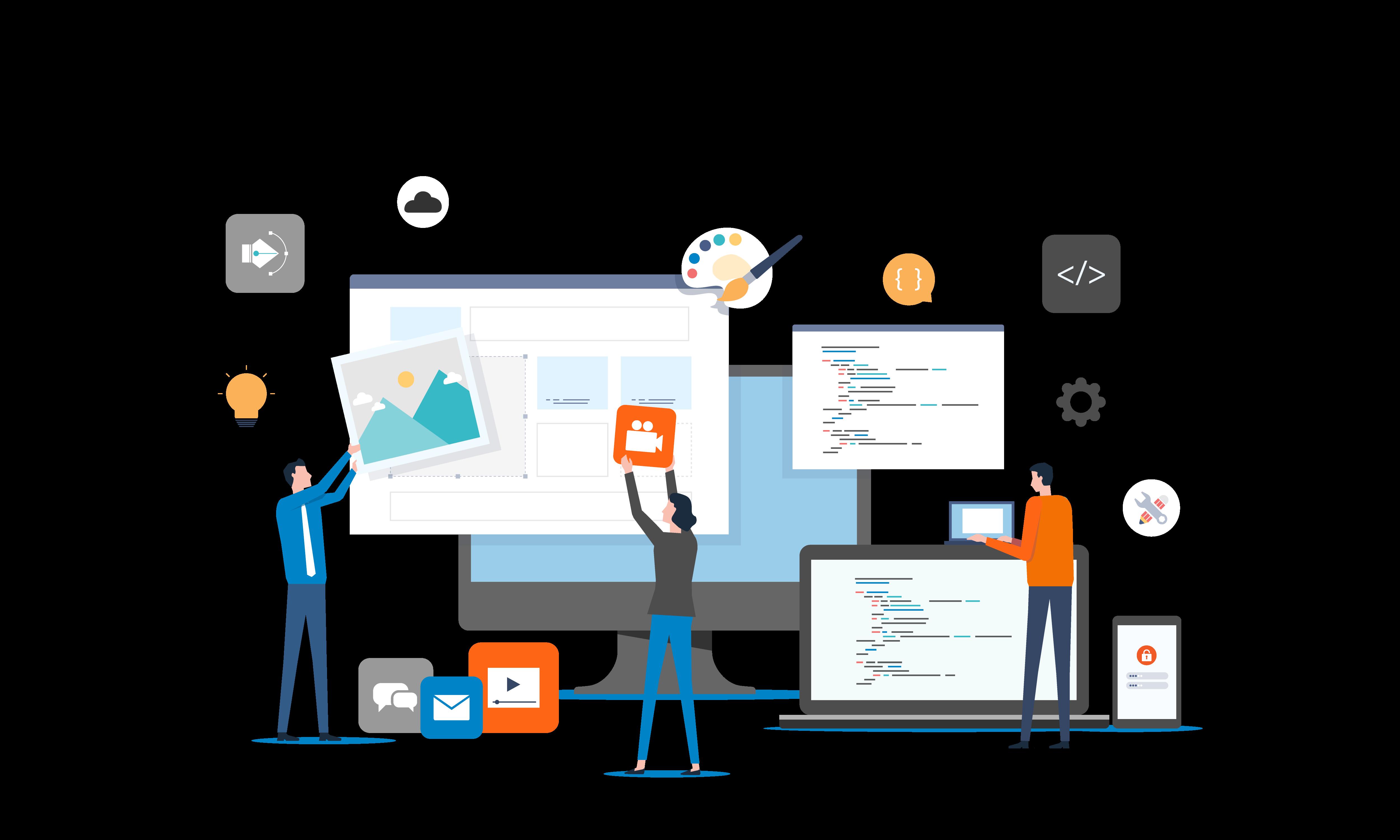 הקמת אתר ועיצובו בקוד על ידי בייט טכנולוגיה הכלולים בתוך דמי הקמה